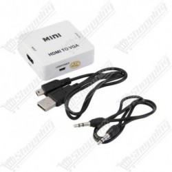Convertisseur mini - HDMI to VGA et audio