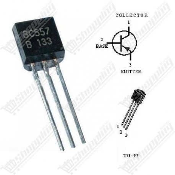 Transistor BC557 PNP 100mA 45V TO-92
