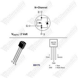 Transistor BC547 NPN 100mA 45V TO-92