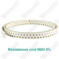 Résistance smd 0603 5% - 1Kohm