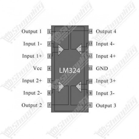 IC LM324 amplificateur DIP-14