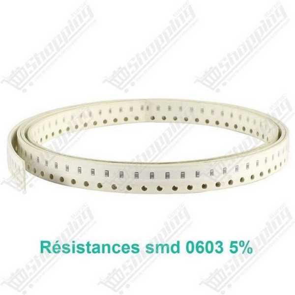 Résistance smd 0603 5% - 9.1Mohm