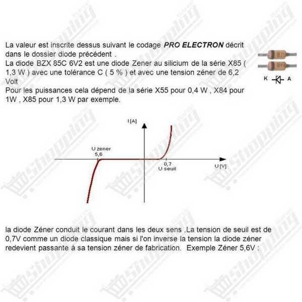 Diode Zener 1/2W 0.5w 6.2V